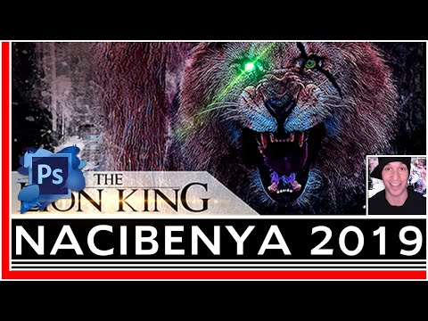 Making The LION KING 2019 Movie Poster - Photoshop Actions