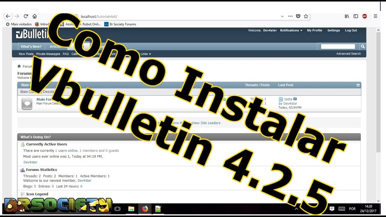 Como Instalar vbulletin 4 2 5 final + Download