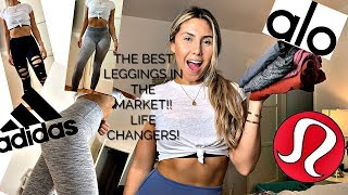 GYM LEGGINGS TRY ON HAUL- LULULEMON,ADIDAS,OLD NAVY,ALO YOGA!