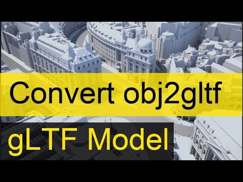 Convert OBJ assets to glTF Model in node js   gltf Model Converter    obj2gltf