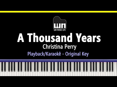 A Thousand Years - Christina Perri - Piano Playback for Cover / Karaoke
