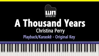 Gambar cover A Thousand Years - Christina Perri - Piano Playback for Cover / Karaoke