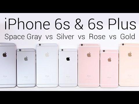 Apple iPhone 6s: Rose Gold vs Silver vs Gold vs Space Gray [Color Comparison]