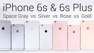 Apple iPhone 6s: Rose Gold vs Silver vs Gold vs Space Gray [Color Comparison]