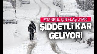 Son dakika! İstanbul'a kar ne zaman geliyor? AKOM'dan şiddetli kar uyarısı!