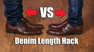 Denim Leg Length Hack EVERY Guy Should Know!