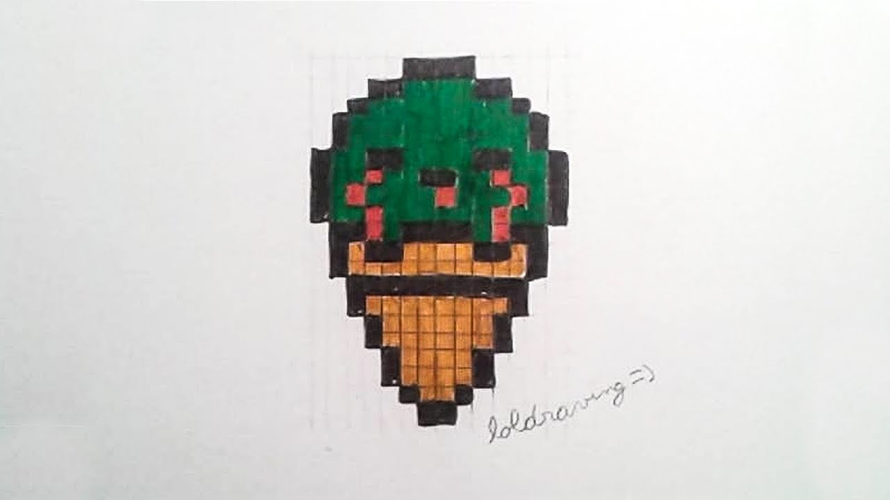 Bonus Halloween 1 Glace Zombie Pixel Art Youtube