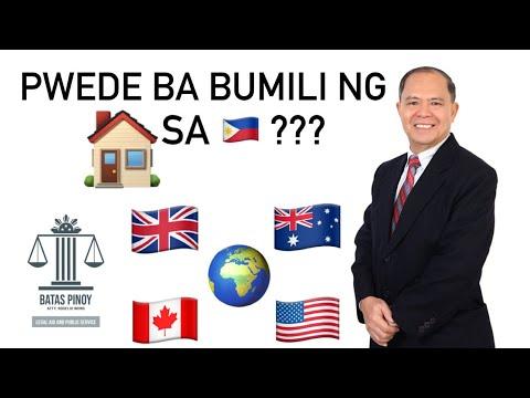 PAGMAMAY-ARI NG LUPA NG FOREIGNERS, FORMER FILIPINO CITIZENS AT DUAL CITIZENS