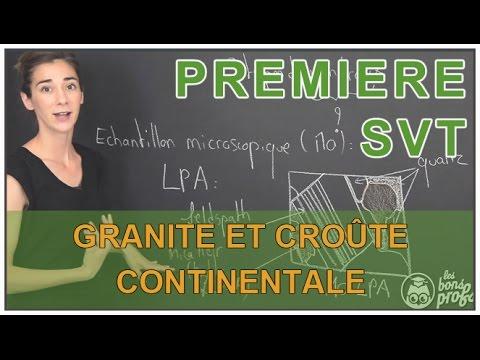 Granite et croûte continentale - SVT - 1ère S - Les Bons Profs
