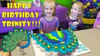 HAPPY BIRTHDAY Party!! Trinity Turns 5 Years Old! *Peacock Birthday Party*
