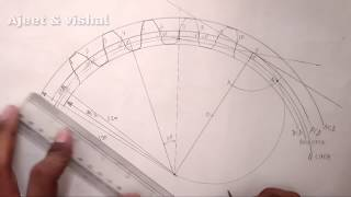 Gear drawing in Hindi | MDD | Mechanical 4th semester| Gear with question | Diploma in engineering.