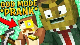 GOD MODE *PRANK* DELTA LUCKY BLOCK WALLS CHALLENGE! Minecraft - Lucky Block Mod