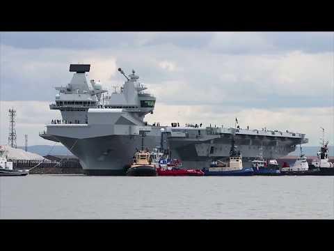 HMS Queen Elizabeth arrives in the USA | Royal Navy