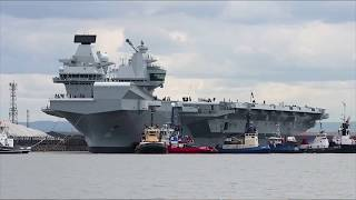 HMS Queen Elizabeth arrives in the USA | Royal Navy