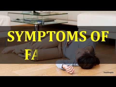SYMPTOMS OF FAINTING