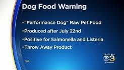 Salmonella Concerns Causes Dog Food Recall