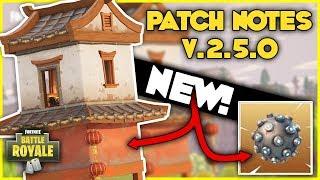 FORTNITE PATCH NOTES V.2.5.0 | Impulse Grenade & Hidden Shrines - Fortnite Battle Royale