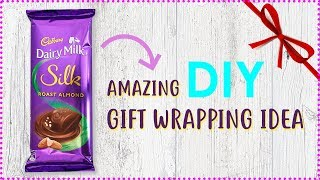 How to Gift Wrap Chocolate Bar   Gift Wrapping Ideas   DIY Gift Ideas