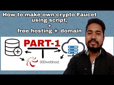 How To Make Your Own Crypto Faucet Using Script [Part-1] | How To Upload & Connect To Database