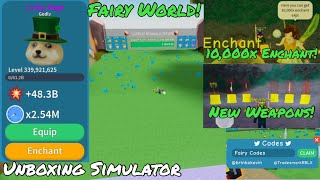 Fairy World! | Roblox: Unboxing Simulator