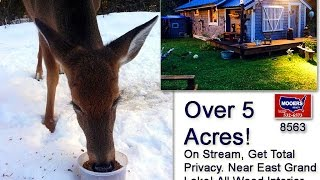 Maine Real Estate For Sale | Over 5 Acres, Hidden Home MOOERS #8565