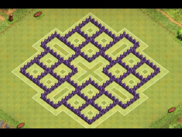 Clash of Clans - Town Hall 8 Awesome Farming Base! (4 mortors) #1