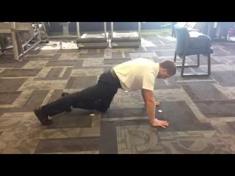 Quadruped hip extension progression