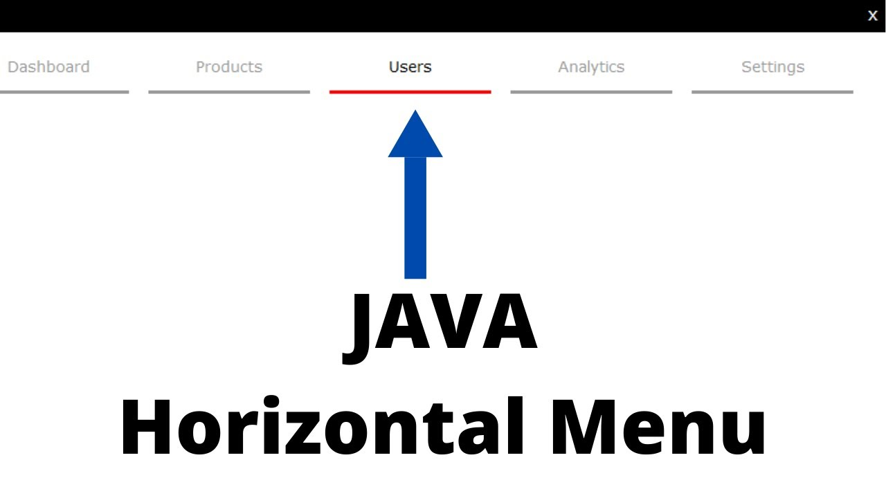 Java Tutorial - How To Design a Horizontal Menu In Java Netbeans | with source code