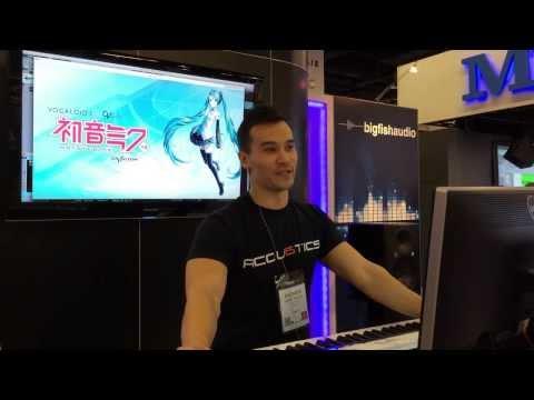 Hatsune Miku V3 English Demo - NAMM 2014 - Big Fish Audio