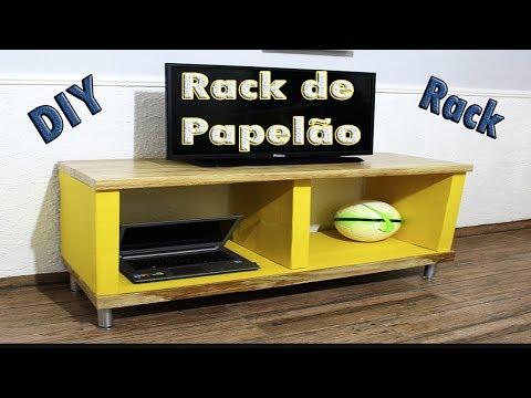 RACK DE PAPELÃO FAÇA VOCÊ MESMO,DIY RACK