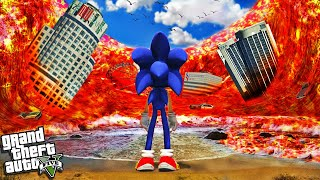 SONIC vs LAVA TSUNAMI In GTA 5 (Crazy)