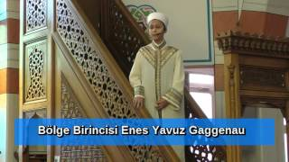 Bölge Hutbe birincisi Enes Yavuz 2016