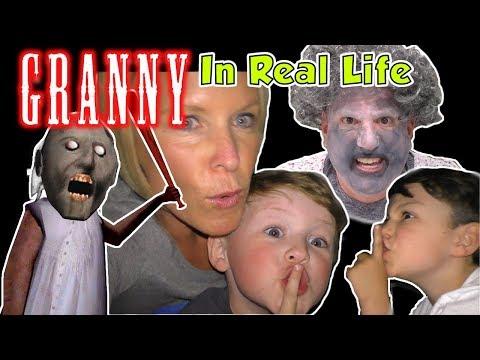 Granny Game in Real Life - Escape from Granny's House Kids Skit   DavidsTV