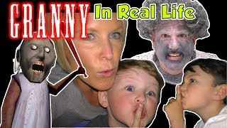 Granny Game in Real Life - Escape from Granny's House Kids Skit | DavidsTV