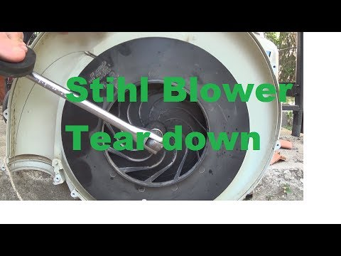 Stihl Backpack Blower 4 Mix Tear down