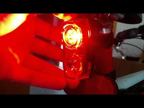 Bike Bicycle 3-Mode Red Light LED Safety Warning Signal Lamp Taillight - Black + Red (2 x AAA)