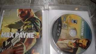Unboxing Max Payne 3 Sony Playstation 3 PS3 Rockstar Games Take Two Remedy Entertainment