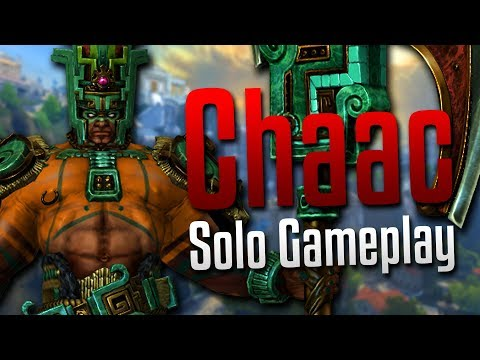 Smite: One Man Wrecking Crew!- Chaac Solo Gameplay
