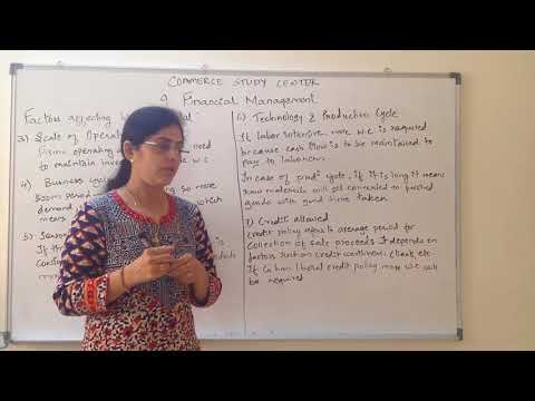 Factors affecting Working Capital Chapter 9 Class 12 Business Studies