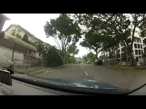 Drive to house in Damansara Heights, KL, Malaysia