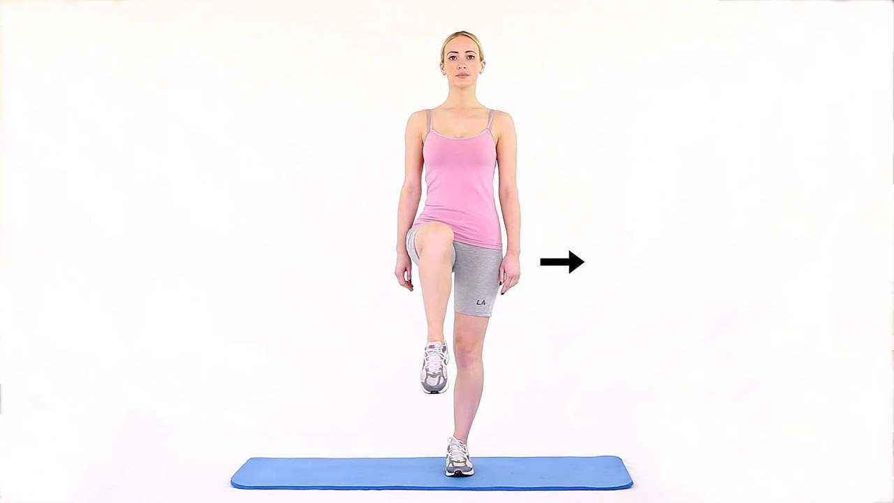 Hip adduction with flexion standing - YouTube