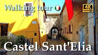Castel Sant'Elia, Italy【Walking Tour】With Captions - 4K