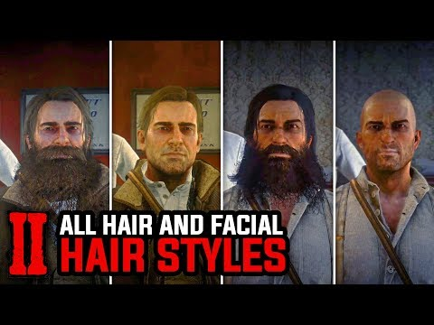 All Max Growth Hair And Facial Hair Styles Arthur And John Red Dead Redemption 2 Youtube