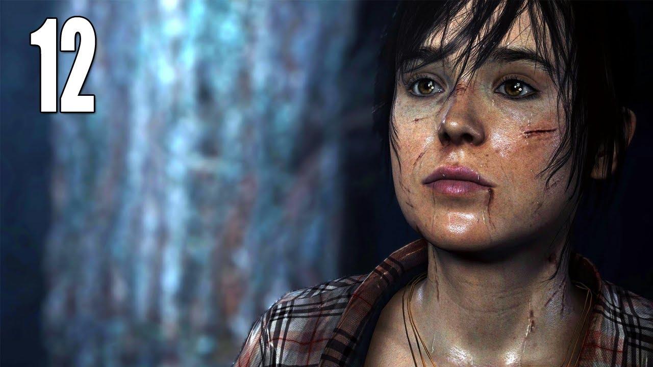 "beyond: two souls gameplay walkthrough - part 12 ""naked shower scene"