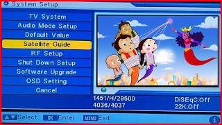 Satelliten-Guide-Einstellung Auf DD Kostenlosen Teller Cartoon-Kanal arbeiten, chota bheem Pogo-Kanal-Frequenz