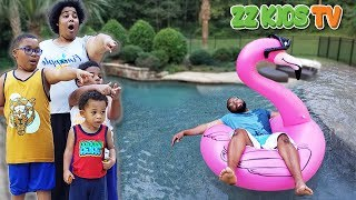 ZZ Dad Wakes Up In Swimming Pool! (WHO DID IT?)