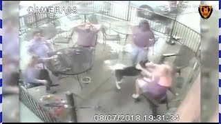 Shocking video of dog biting women in the face at restaurant