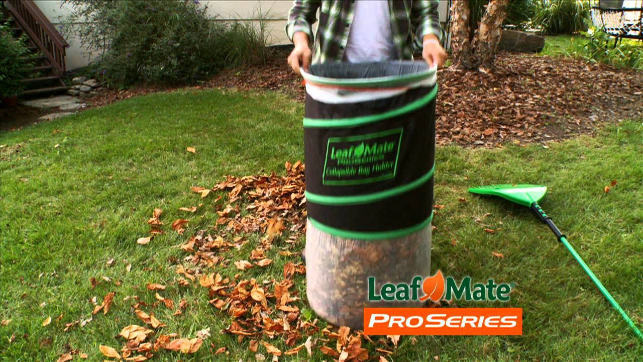 LeafMate Collapsible Bag Holder - YouTube