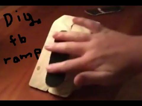DIY Fingerboard Ramp