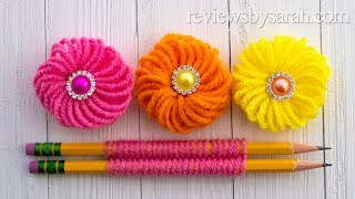 How to Make an Easy Flower - Beginner Finger Embroidery Trick with Yarn